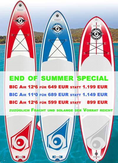 End of Summer Special - BIC Inflatable SUPs ab 599 EUR