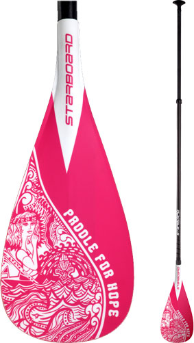 Starboard - Enduro S Paddle For Hope<br>Skinny  Hybrid Carbon 2Pcs Adjustable